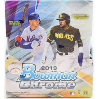 2019 Bowman Chrome Baseball Hobby 6-Box- DACW Live 28 Spot Random Team Break #2
