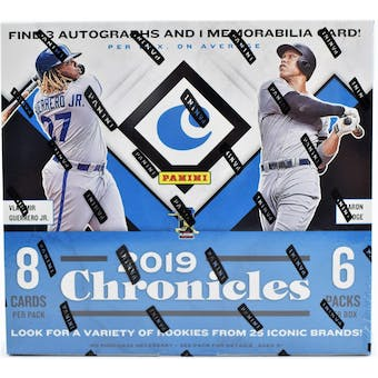 2019 Panini Chronicles Baseball 8-box- DACW Live 30 Spot Pick Your Team Break #1