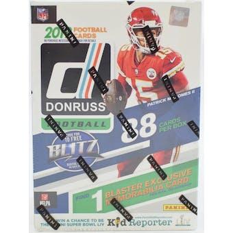 2019 Panini Donruss Football 11-Pack Blaster Box
