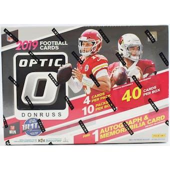 2019 Panini Donruss Optic Football Hobby Collectors Box (Orange Scope Parallels)