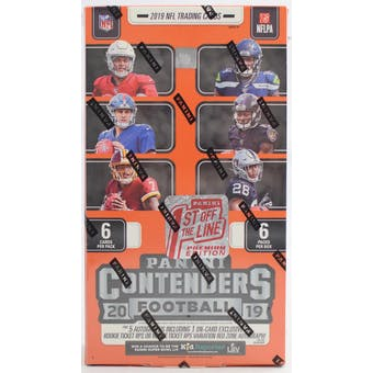 2019 Panini Contenders 1st Off The Line Premium Edition Football Hobby Box