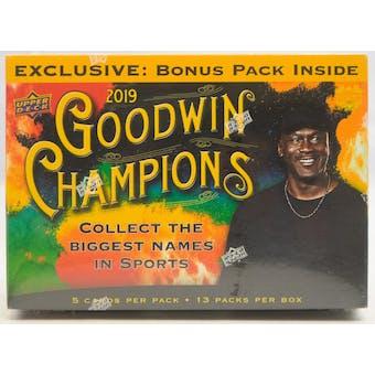 2019 Upper Deck Goodwin Champions Mega Box