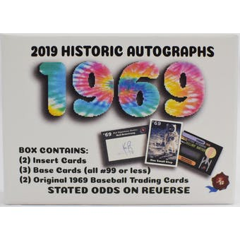 2019 Historic Autographs 1969 Trading Cards Box