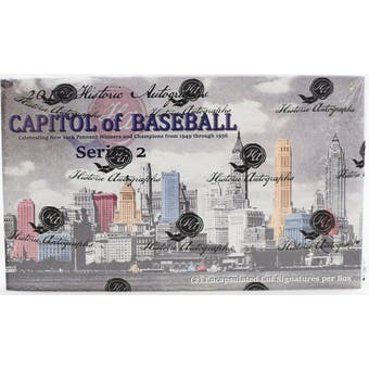 2019 Historic Autographs Capitol of Baseball Series 2 Baseball Hobby Box