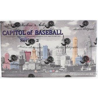 2019 Historic Autographs Capitol of Baseball Series 2 Baseball Hobby Box