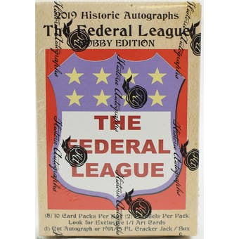 2019 Historic Autographs Federal League Baseball Hobby Box
