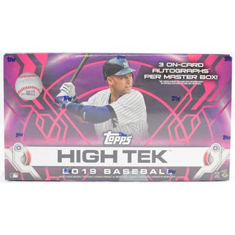 2019 Topps High Tek Baseball 12-Box Case- DACW Live 6 Spot Random Division Break #1