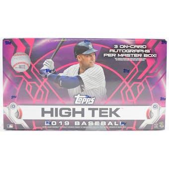 2019 Topps High Tek Baseball 12-Box Case- DACW Live 30 Spot Pick Your Team Break #2