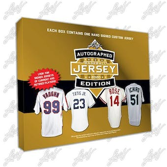 2020 Leaf Autographed Baseball Jersey Edition Hobby Box