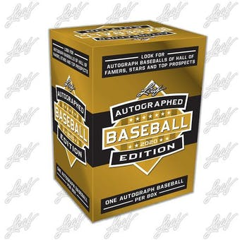 2020 Leaf Autographed Baseball Edition Hobby Box
