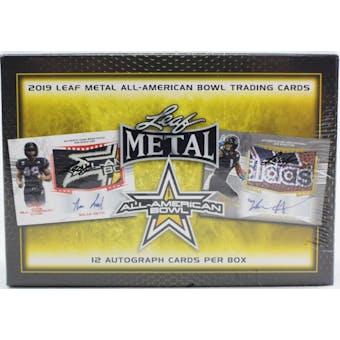 2019 Leaf Metal All-American Football Jumbo Box
