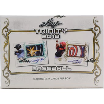 2018 Leaf Trinity Baseball Hobby Box