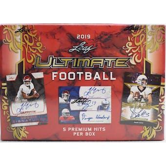 2019 Leaf Ultimate Football Hobby Box