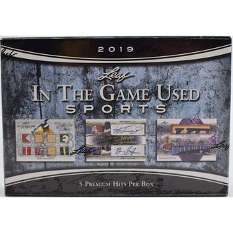 2019 Leaf In The Game Used Sports Hobby Box