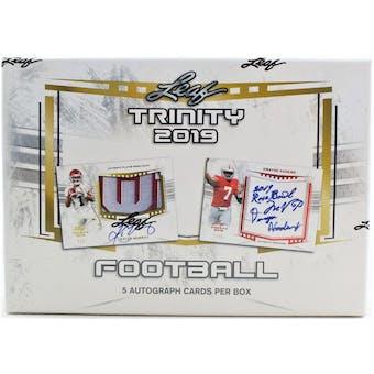 2019 Leaf Trinity Football Hobby Box