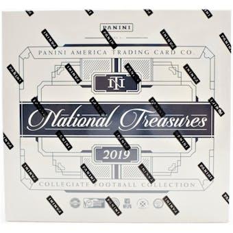 2019 Panini National Treasures Collegiate Football Hobby Box