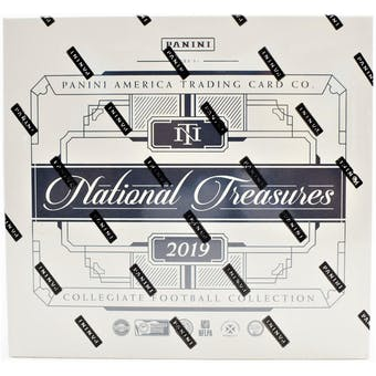 2019 Panini National Treasures Collegiate Football Hobby Box