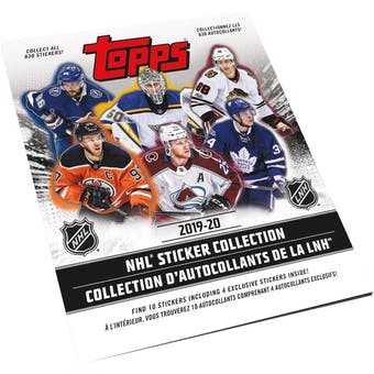 2019/20 Topps NHL Hockey Sticker Collection Album