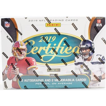 2019 Panini Certified Football 12-Box Case- DACW Live 32 Spot Pick Your Team Break #2