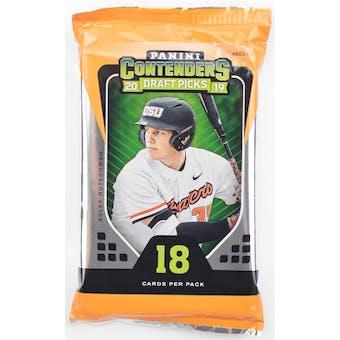 2019 Panini Contenders Draft Picks Baseball Hobby Pack