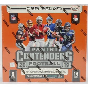 2019 Panini Contenders Football 14-Pack Box