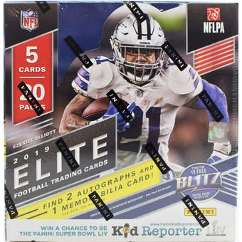 2019 Panini Elite Football 12-Box Case- DACW Live 32 Spot Pick Your Team Break #1