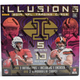 2019 Panini Illusions Football 8-Box Case- DACW Live 28 Spot Random Team Break #1