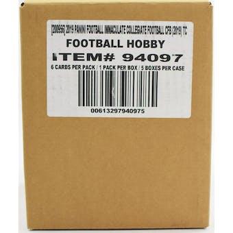 2019 Panini Immaculate Collegiate Football Hobby 5-Box Case