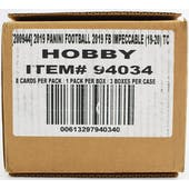 2019 Panini Impeccable Football Hobby 3-Box Case