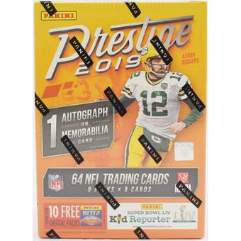 2019 Panini Prestige Football 8-Pack Blaster Box (Lot of 3)