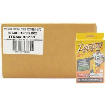 2019 Panini Prestige Football 60ct Hanger 36-Box Case