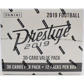 2019 Panini Prestige Football 12-Pack Jumbo Box
