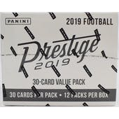 2019 Panini Prestige Football Jumbo 12ct Fat Pack Box