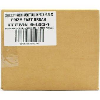 2019/20 Panini Prizm Fast Break Basketball 20-Box Case