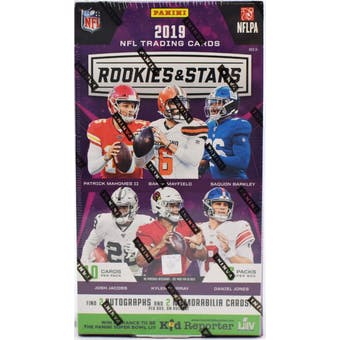 2019 Panini Rookies & Stars Football 14-Box Case- DACW Live 32 Spot Pick Your Team Break #3