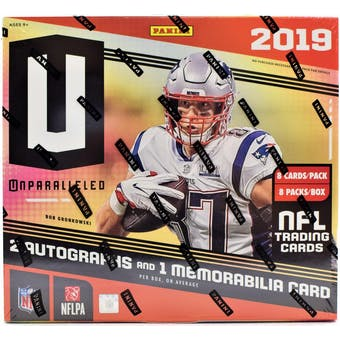2019 Panini Unparalleled Football Hobby Box
