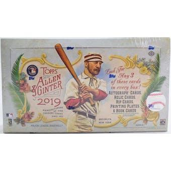 2019 Topps Allen & Ginter Baseball 6-Box- DACW Live 30 Spot Pick Your Team Break #2