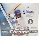 2019 Topps Chrome Baseball Hobby Jumbo Box