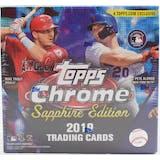 2019 Topps Chrome Sapphire Edition Baseball Box