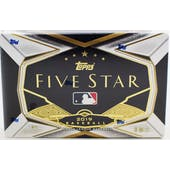 2019 Topps Five Star Baseball Hobby Box