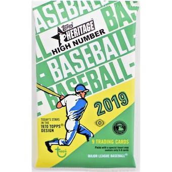 2019 Topps Heritage High Number Baseball Hobby Pack