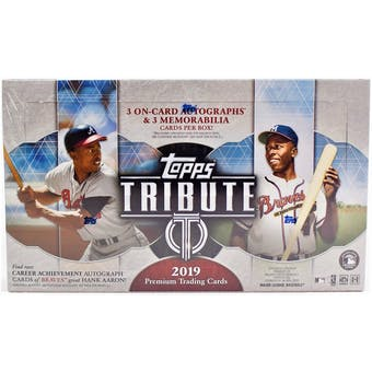 2019 Topps Tribute Baseball 6-Box Case- DACW Live 30 Spot Pick Your Team Break #2