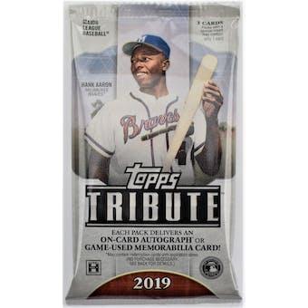 2019 Topps Tribute Baseball Hobby Pack