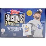2019 Topps Archives Signature Series Baseball Hobby Box