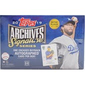 2019 Topps Archives Signature Series Baseball Hobby Box