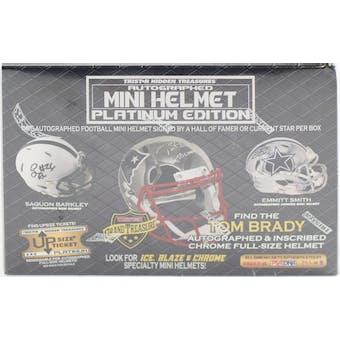 2019 TriStar Autographed Mini Helmet Platinum Football Hobby Box