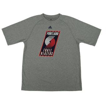 Portland Trail Blazers Adidas Grey Climalite Rip City Performance Tee Shirt