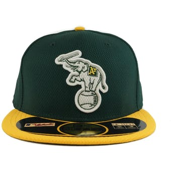 Oakland Athletics New Era Diamond Era 59Fifty Fitted Green & Yellow Hat (7 3/8)