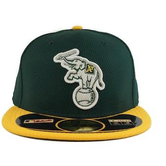 Oakland Athletics New Era Diamond Era 59Fifty Fitted Green & Yellow Hat (7 3/8)