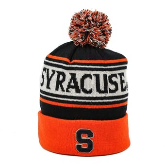 Syracuse Orange Top Of The World Navy Ambient Youth Cuffed Pom Knit Hat (Youth One Size)